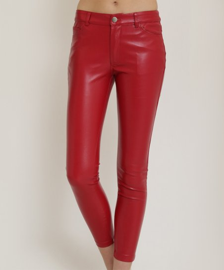 ec6cab3c4e5e6 love this product Red Faux Leather Pants
