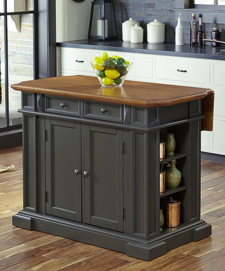 Home Styles Gray Americana Kitchen Island Zulily