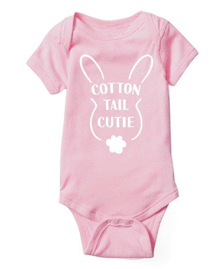 f927afa35ee0 Instant Message Light Pink Cotton Tail Cutie Bodysuit - Infant