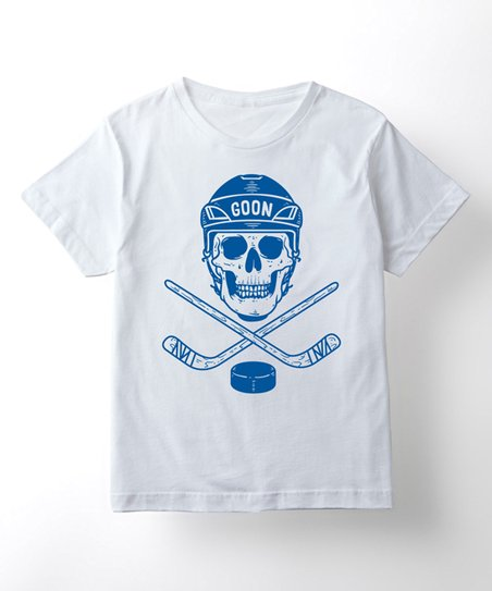 ea07e1d3e1da4 Instant Message White Hockey Skull 'Goon' Short-Sleeve Tee - Kids