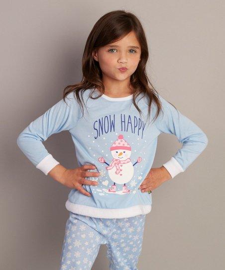 86bd30cb89fc Dollie & Me Blue Snow Happy Pajama Set & Doll Outfit - Girls | Zulily