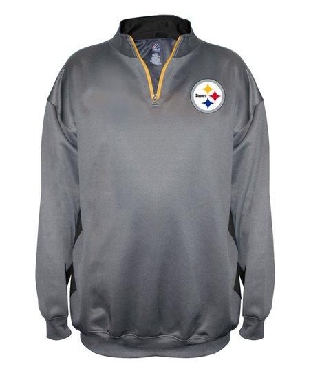 huge selection of 80c1f 8887b Pittsburgh Steelers Quarter-Zip Fleece Jacket - Men's Big & Tall