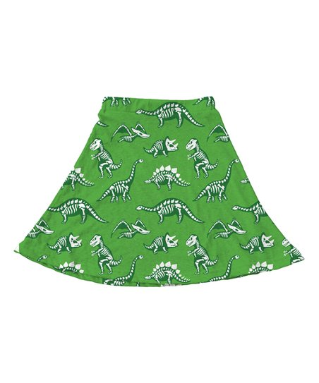 8e281ad9f664 love this product Green & White Dinosaur Skirt - Toddler & Girls