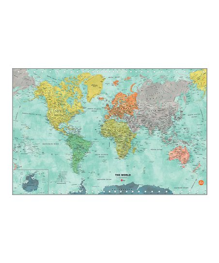 WallPops! Aquarelle World Map Dry-Erase Decal | Zulily