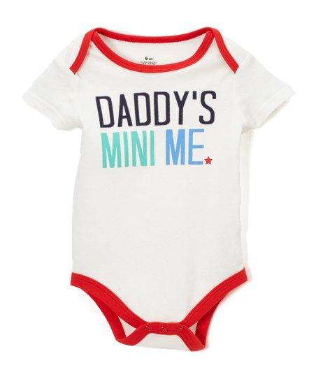 947ace785 Baby Starters White Daddys Mini Me Bodysuit - Infant | Zulily