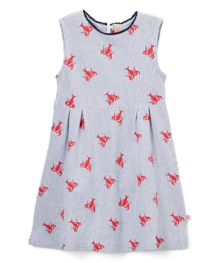 447b9213d15 love this product Red Seersucker Lobster A-Line Dress - Toddler   Girls