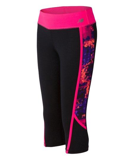 2781ea067bf30 love this product Black/alpha Pink Fashion Performance Capri Leggings -  Girls