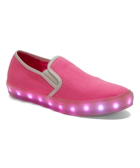 e82d468d640 love this product Neon Pink LED Light-Up Slip-On Sneaker