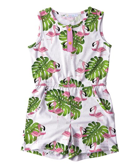ca9d904e1f62 love this product White   Pink Flamingo Romper - Toddler   Girls