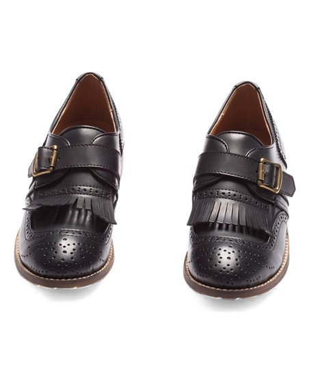 570a06ecd86 Pink Martini Collection Black Buckle Kiltie Loafer