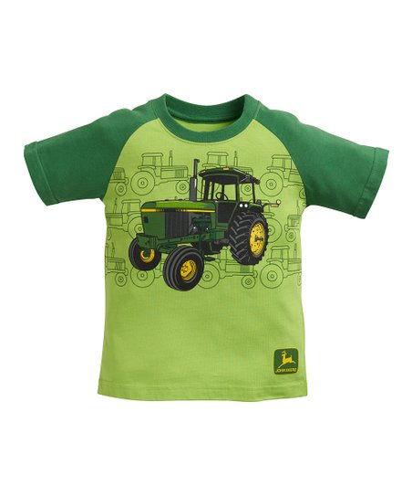 Lime Green Jd Vintage Tractor Tee Toddler