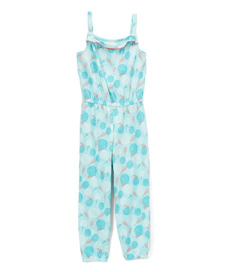 371f8da81c8 love this product Turquoise Floral Jumpsuit - Girls