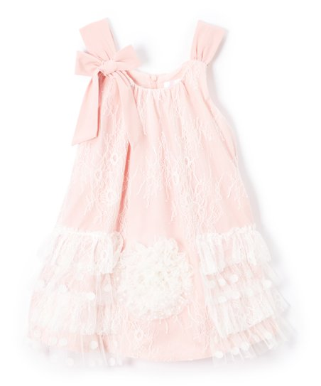 bbb6bb5b300 Blossom Couture Vintage Rose Lace Ruffle-Hem Dress - Toddler | Zulily
