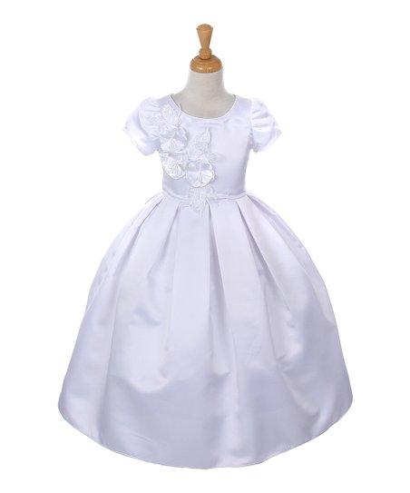 fabf82f76eb Cinderella Couture White Flower Dress - Girls