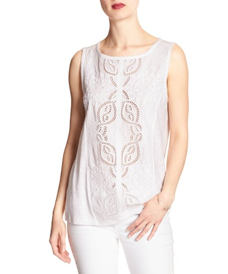 53840001805 Banana Republic Factory White Lace Tank