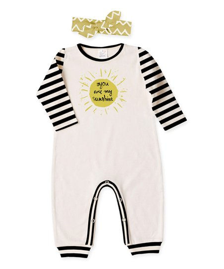 4f4a62ce541 love this product Ivory   Stripe  You Are My Sunshine  Playsuit   Headband  - Infant