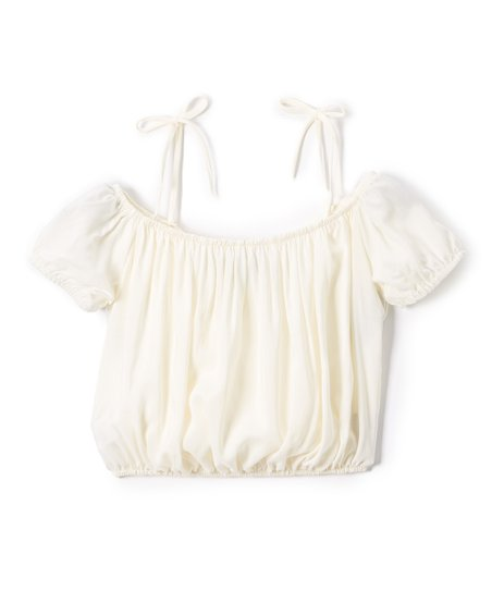 95e564854 Sinai Kids Off-White Off-Shoulder Peasant Top - Toddler & Girls | Zulily