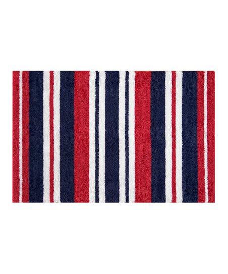Red Blue Stripe Rug Zulily