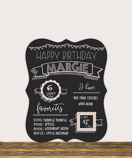 Stamp Out 'Happy Birthday' Personalized Chalkboard Sign