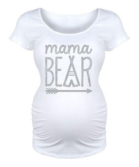0121733d7b4f7 Bloom Maternity White Arrow Mama Bear Maternity Scoop Neck Tee | Zulily