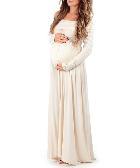 42aa74f26575b Maternity Off The Shoulder Dress - Dress Foto and Picture