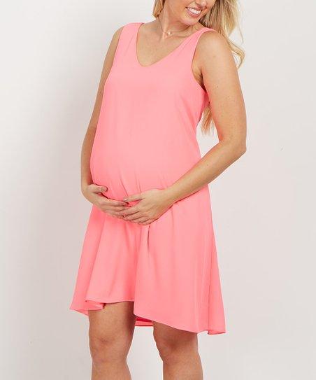 aee3be00b849 PinkBlush Maternity Pink Chiffon Maternity Dress | Zulily