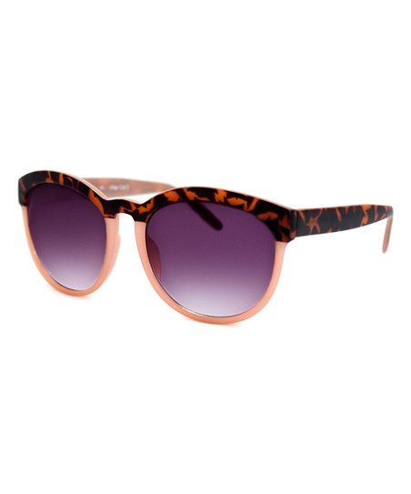 48c2ace1f312 A.J. Morgan Matte Tortoise & Pink Endearing Reader Sunglasses | Zulily