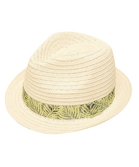 b074cf3213799d Boardwalk Style White Straw Fedora | Zulily