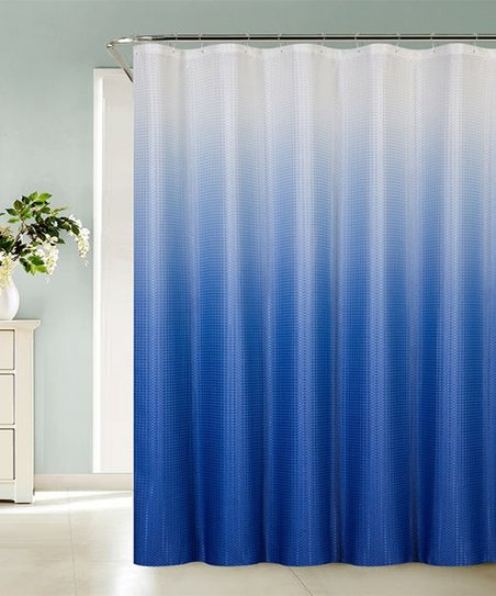 Royal Blue Ombre Sea Shower Curtain