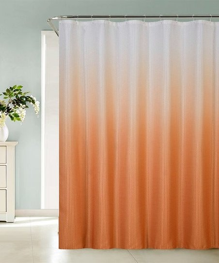 Love This Product Orange Ombre Sea Shower Curtain