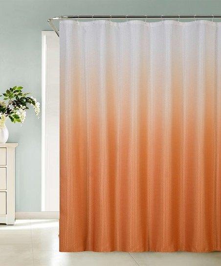 Daniels Bath Beyond Orange Ombré Sea Orange Shower Curtain Zulily