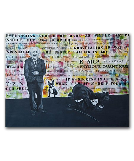 Michael Edery Art Charlie Chaplin Albert Einstein Gallery Wrapped