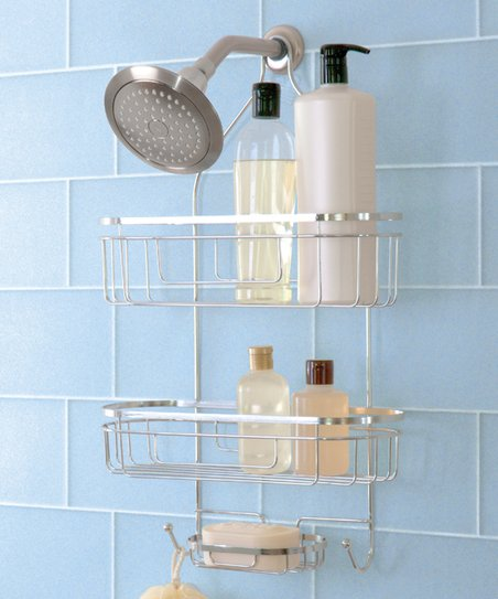 Design Products Chrome Extra Wide Shower Caddy Zulily