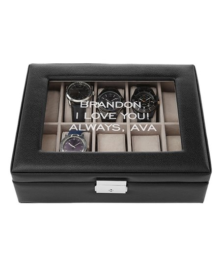 Personal Creations Black Timeless Treasure Personalized Watch Box