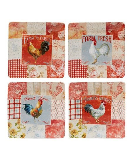 Farmhouse Rooster Dinner Plate - Set of Four  sc 1 st  Zulily & Certified International Farmhouse Rooster Dinner Plate - Set of ...