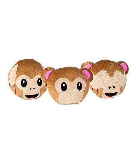 love this product Monkey Emoji Three-Piece Pillow Set b3e6165ac