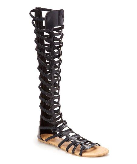 Chatties Black Tall Gladiator Sandal