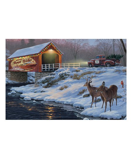 Rivers Edge Products Boat Rides Led Wrapped Canvas Zulily