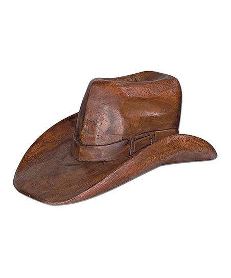 Groovystuff Dark Brown Cowboy Hat Statue  7408a121ea0