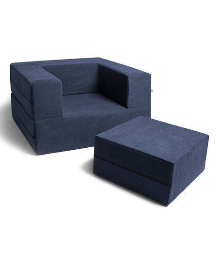 Prime Blue Convertible Sleeper Chair Ottoman Set Frankydiablos Diy Chair Ideas Frankydiabloscom