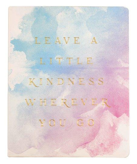 Eccolo 'Leave a Little Kindness' Watercolor Desk Journal