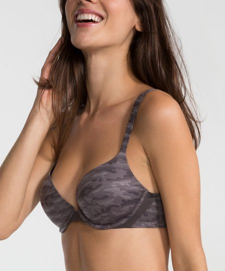 181dc0ed94 SPANX® by Sara Blakely Pillow Cup Push-Up Plunge Bra - Charcoal Camo ...