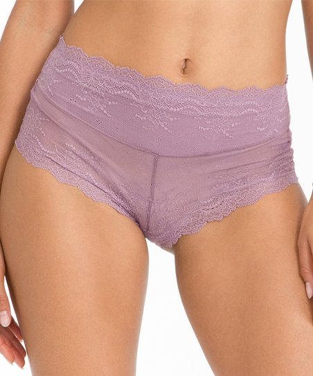 29b744e548be SPANX® by Sara Blakely Retro Rise Lace Cheeky Brief - Mulberry ...
