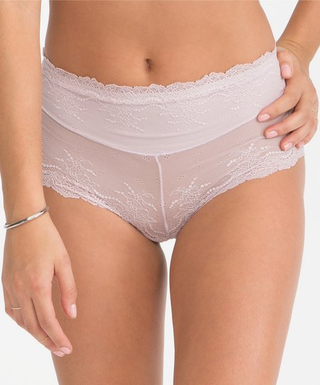 cc57d7399eba SPANX® by Sara Blakely Retro Rise Lace Cheeky Brief - Pale Mauve ...