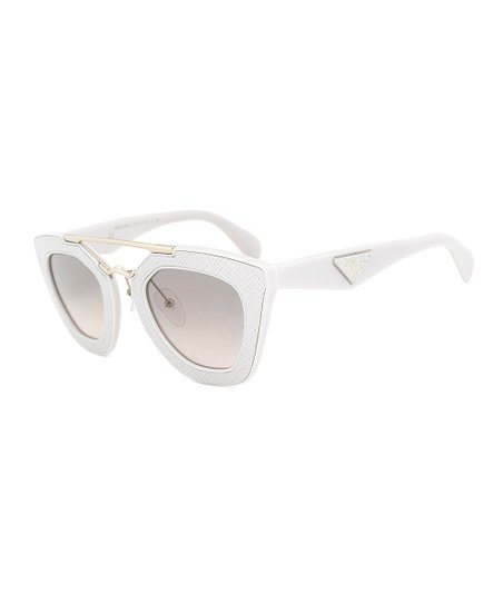a53a67b2b6f4 love this product Ivory   Gold Double-Bridge Cat-Eye Sunglasses