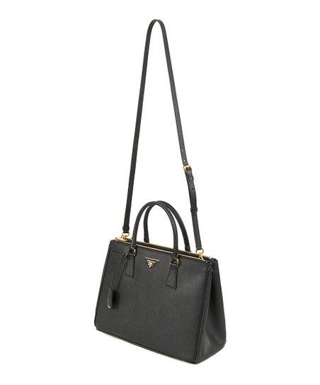 67c5618c96 Prada Black Galleria Saffiano Double-Zip Luxe Leather Bag