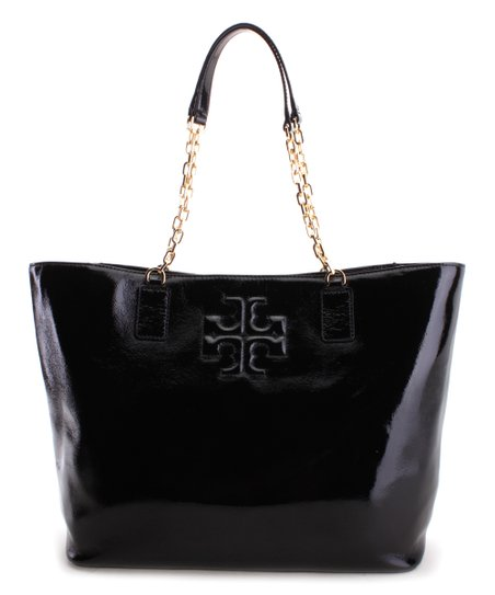 2e49ad8ae25 Tory Burch Black Charlie Patent Leather Tote