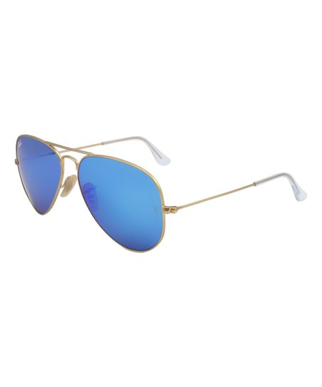 ade810edc5232 ... Light Ray II Matte Transparent Green Mirror Blue - RB4211 646  love  this product Matte Gold   Green Mirror Blue Aviator Sunglasses - Unisex Ray  Ban ...