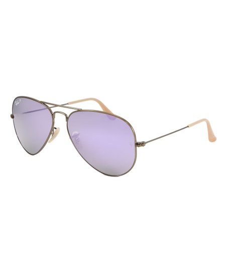 893acd7f7362 love this product Bronze   Lilac Mirror Polarized Aviator Sunglasses -  Unisex