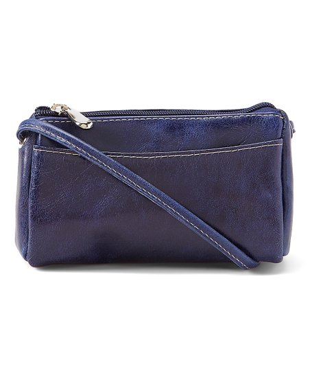 Blue Florentine Leather Mini Shoulder Bag